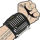 Magnetisches Armband, Kusonkey Magnetarmband Handwerker mit 15 leistungsstarken Magneten, Bestes Männer Geschenke, DIY Gadget, Geschenk für Vater, Tischler, Mann, Papa, Geburtstag, Heimwerker usw.