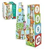 Jumbo Spiele Goula D55219 - Stapelturm Tiere, 10-teilig