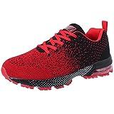 VVQI Laufschuhe Herren Damen Sneaker Sportschuhe Turnschuhe Mode Leichtgewichts Freizeit Atmungsaktive Fitness Schuhe 44 EU 005 3 Rot