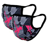 2er-Pack Mundschutz Maske Kinder Junge & Mädchen waschbar, camouflage | aus 100% Baumwolle Oeko-TEX 100 Standard Earloop-Design | wiederverwendbare Behelfs-Mundschutz Maske für Mund Nase | Ab 10