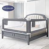 YIKANWEN Bettgitter, 150cm Bettschutzgitter Kinderbettgitter Babybettgitter,passend für Kinderbetten, Elternbetten und Alle Matratzen Massivholzbetten