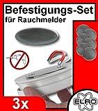 3er-Set Magnet Befestigung für Rauchmelder, Magnetbefestigung Elro RMAG2