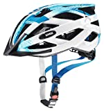 Uvex Unisex Jugend, air wing Fahrradhelm, blue white, 52-57 cm