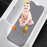 Badewannenmatte,TOPSEAS Kinder Rutschfest Badematte mit 200 Saugnäpfen,Badematte Antirutsch maschinenwaschbar Duschmatte Antirutschmatte für sicheren Halt in der Badewanne