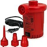 Deuba Elektrische Luftpumpe Elektropumpe inkl. 3 Aufsätze mit Netzstecker Zum auf- und Abpumpen