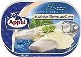 Appel Heringsfilets in Sahne-Meerrettich-Creme, 10er Pack Konserven, Fisch in Sahne-Meerrettichcreme