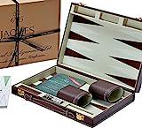 Jaques of London Backgammon Set - 11 Zoll Backgammon-Set - Great Reise - Backgammon-Set