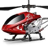 SYMA Hubschrauber ferngesteuert Helikopter Fernbedienung RC Helicopter Indoor Outdoor Flugzeug Geschenk Kinder S107H-E 3.5 Kanal 2.4 Ghz LED Leucht Gyro Höhe halten Rot