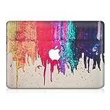 kwmobile Aufkleber Sticker kompatibel mit Apple MacBook Air 13' (2011-Mitte 2018) - Skin Folie Vorderseite Decal Regenbogen laufende Farbe Mehrfarbig Rot Beige