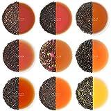 VAHDAM, Schwarzer Tee Sampler - 10 TEAS, 50 Portionen | 100% natürliche Inhaltsstoffe | Hoher Koffein, gesunder Kaffeeersatz Brew Hot, Iced, Kombucha-Teeset | Schwarzer Tee Loose Leaf | Tee Probierset