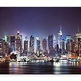 murando Fototapete New York 350x256 cm Vlies Tapeten Wandtapete XXL Moderne Wanddeko Design Wand Dekoration Wohnzimmer Schlafzimmer Büro Flur Stadt City New York d-B-0034-a-b