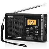 Tragbares Radio Taschenradio Klein AM FM Digitales Radio Pocket Transistor Stereo Radio mit Eingebauten Lautsprechern Digital Wecker und Sleep Timer, Batteriebetrieben