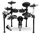 XDrum DD-520 PLUS E-Drum Set (elektronisches Schlagzeug, mit Sticks & Fußmaschine, Kopfhörer-Anschluss, 458 Sounds)