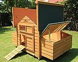 Pets Imperial® Savoy Hühnerstall für bis 12 Vögel mit Zwei Nest Boxen Links und rechts, leicht zu reinigen