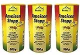 3 x 300g Ameisenstopp von Ahrenshof, Pulver gegen Ameisen, Ameisen-Stopp, Ameisenabwehr