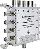 SCHWAIGER -5200- Multischalter 5 - 8 / Verteilt 1 SAT-Signal auf 8 Teilnehmer/SAT-Verteiler/SAT-Splitter mit externem Netzteil/digital Multiswitch/in Kombination mit einem Quattro LNB