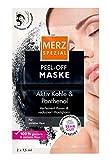 Merz Spezial Peel-off Maske – Gesichtsmaske mit Aktivkohle & Panthenol – Pflegende Gesichtsreinigung bei Haut Unreinheiten im Gesicht – 2 x 7,5ml