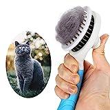 GOOING Katzenbürste, Katzenburste Selbstreinigend Zupfbürste Entfernt Unterwolle Hundebürste Hundebürste Katzenbürste Kurz bis Langhaar Geeignet Sanfte Katzenbürste Zupfbürste-Blau