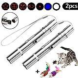 Faburo 2pcs LED Pointer für Katzen Katzespielzeug LED Licht Pointer Katze Multifunktion Wiederaufladbar per USB Anschluss