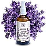 Lavendel Aromatisches Spray 100ml – Lavendel Kissenspray ideal für Yoga – Lavendelkissen Spray für guten Schlaf - Entspannung – Beruhigung - Raum-Spray - mit 100% reinem Lavendelöl