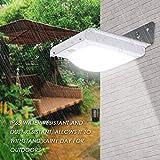 Solarleuchte für Außen,Solar-Außensicherheits-Wandleuchten, Solarbetriebene Lampe LED-Wandleuchte mit PIR-Bewegungsmelder-Detektor Außen wasserfeste Sicherheitsbeleuchtung für Garten-Auffahrt Veranda