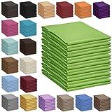 Qool24 Bettlaken 100% Baumwolle Betttuch Haustuch ohne Gummizug 30 Farben und 4 Größen Grau 100x170 cm
