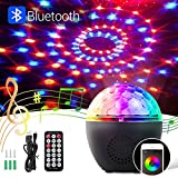 LED Discokugel,BACKTURE Bluetooth Musikspieler Magic Discokugel 16 Farbe Modi mit Fernbedienung + USB Kabel + 8 Stufen Lichtmodus LED Bühnenbeleuchtung Party Lichter Projektor Discolampe Lichteffekte