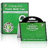 Kimimara Lebensmittel-Mottenfalle, 6 Stück Pheromonfallen Nahrungsmittelmotten zur Bekämpfung und Schutz gegen Motten in der Küche