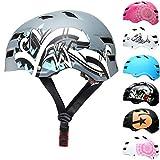 Skullcap® Skaterhelm Erwachsene Grau Graffiti - Fahrradhelm Herren ab 14 Jahre Größe L 58-61 cm - Scoot and Ride Helmet Adult Grey - Skater Helm für BMX Inliner Fahrrad Skateboard