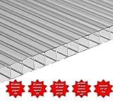 Polycarbonat universal Stegplatten klar in 6 mm Größen 200 x 105 cm 10 Jahre garantie