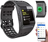 Newgen Medicals Smartwatch GPS Puls: GPS-Sportuhr, Bluetooth, Fitness, Puls, Nachrichten, Farbdisplay, IP68 (Smart Watches)