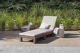 Koll Living Gartenliege/Sonnenliege Sunlocker in braun, inkl. passender Auflage, aus Kunststoff in Rattanoptik, witterungsbeständig und langlebig, 4-Fach verstellbare Rückenlehne