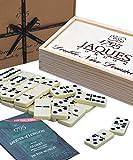 Jaques Von London - doppelt 9 Domino Spiel - Perfekter Club Domino großartig für Domino Kinder und Erwachsene - Domino Spiel – dominosteine seit 1795