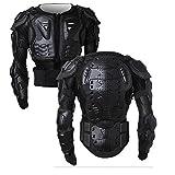 WILDKEN Motorrad Schutz Jacke Pro Motocross ATV Protektorenjacke mit Rückenprotektor Scooter MTB Enduro für Damen und Herren (Schwarz, M)
