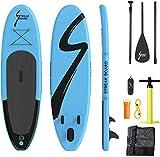 streakboard Sup Board, aufblasbares Stand Up Paddle mit rutschfestes Deck, 6 Zoll Dick, Stand Up Paddle Board mit kostenlosem Zubehör & Rucksack, Leine, Paddel und Handpumpe für alle Level