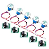 Longruner 5pcs Geared Stepper Motor 28byj 48 Uln2003 5v Stepper Motor Uln2003 Driver Board with arduinoIDE Stepper Motor + Driver Board + Jumper wires LK67-1