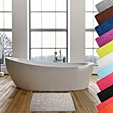 MSV Badteppich Badvorleger Duschvorleger Kieselstein Badematte waschbar, schnelltrocknend, rutschfest 40x60 cm – Beige