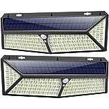 Solarlampen für Außen 430 LED 【USB Aufladung & 3500 Lumen】kilponen Solarleuchte Außen mit Bewegungsmelder 4400mAh Superhelle 270°Solar Wasserdichte Wandleuchte Solarlicht Garten Solar Aussenleuchte