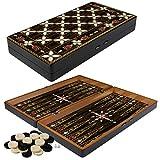 PrimoLiving Deluxe Holz Backgammon Set Tabula im XXL Format 48x48,7 cm