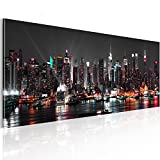 murando - Bilder New York 135x45 cm Vlies Leinwandbild 1 TLG Kunstdruck modern Wandbilder XXL Wanddekoration Design Wand Bild - Skyline NY Stadt City d-B-0087-b-a