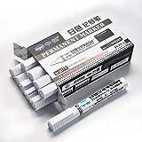 Rich-home Weiß Reifenfarbe Marker Pens 10 STÜCKE wasserdichte für Auto Motorrad Reifenprofil Felsmalerei, Stein, Keramik, Glas, Holz