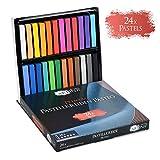 Artina 24er Pastellkreide Set Pasteo - Softpastellfarben in Studio Qualität als feine Kreide Stifte Softpastellkreide Weichpastell für die Kunst
