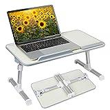 Hossejoy Multifunktionstisch Tragbar Höhenverstellbar und Winkelverstellbar Laptoptisch Laptopständer Betttisch NoteBooktisch Bücherständer für Sofa, Bett, Terrasse, Balkon, Garten usw