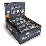 Bodylab24 Protein Bar, baton proteinowy, smak: Banana Caramel, baton proteinowy o niskiej zawartości węglowodanów, niskotłuszczowy, 12 sztuk x 65g