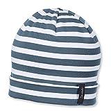 Sterntaler Unisex Slouch-Beanie mit Streifenmotiv, Alter: ab 9-12 Monate, Größe: 47, Graublau