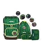 Ergobag cubo RambazamBär, ergonomischer Schulrucksack, Set 5-teilig, 19 Liter, 1.100 g, grün
