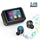 Bluetooth5.0 Kopfhörer Kabellos In Ear MP3 Player mit 2' LCD Touchscreen, Sport Wireless Kopfhörer140 Stunden Spielzeit IPX7 Wasserdicht für iPhone Android
