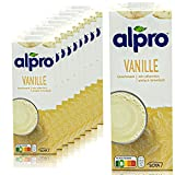 Alpro - 10er Pack Sojadrink Vanille 1 Liter - Soja Soya Drink 100 % pflanzlich