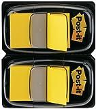 Post-it 680-YW2 Haftstreifen Index Standard, 2 x 50 Haftstreifen im Spender, 25,4 x 43,2 mm, gelb