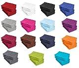 10er Pack Waschhandschuhe, Waschlappen Größe 15x21 cm in Türkis 100% Baumwolle